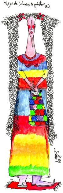 Mujer de colores inquietos_Isabela_Méndez