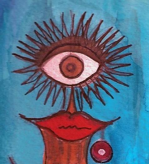 AMPARO MATILDA ESCRIBANO CIENFUEGOS: Un personaje de cuento que habita en un lienzo.