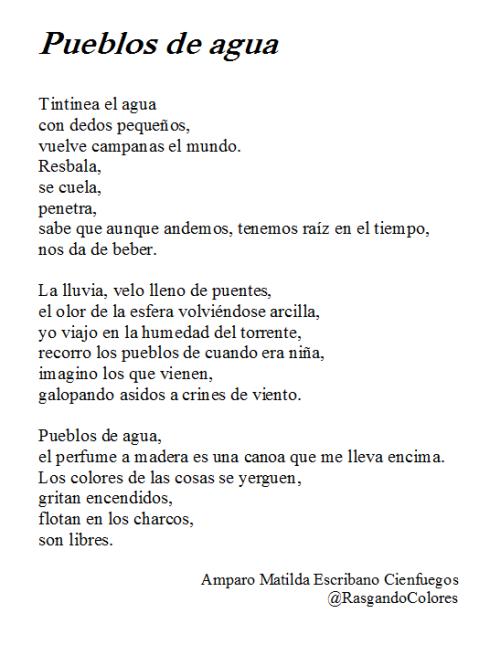 Poema Pueblos de Agua