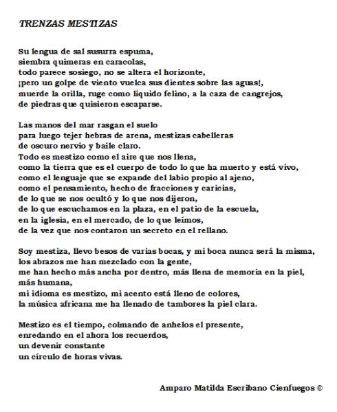 poema trenzas